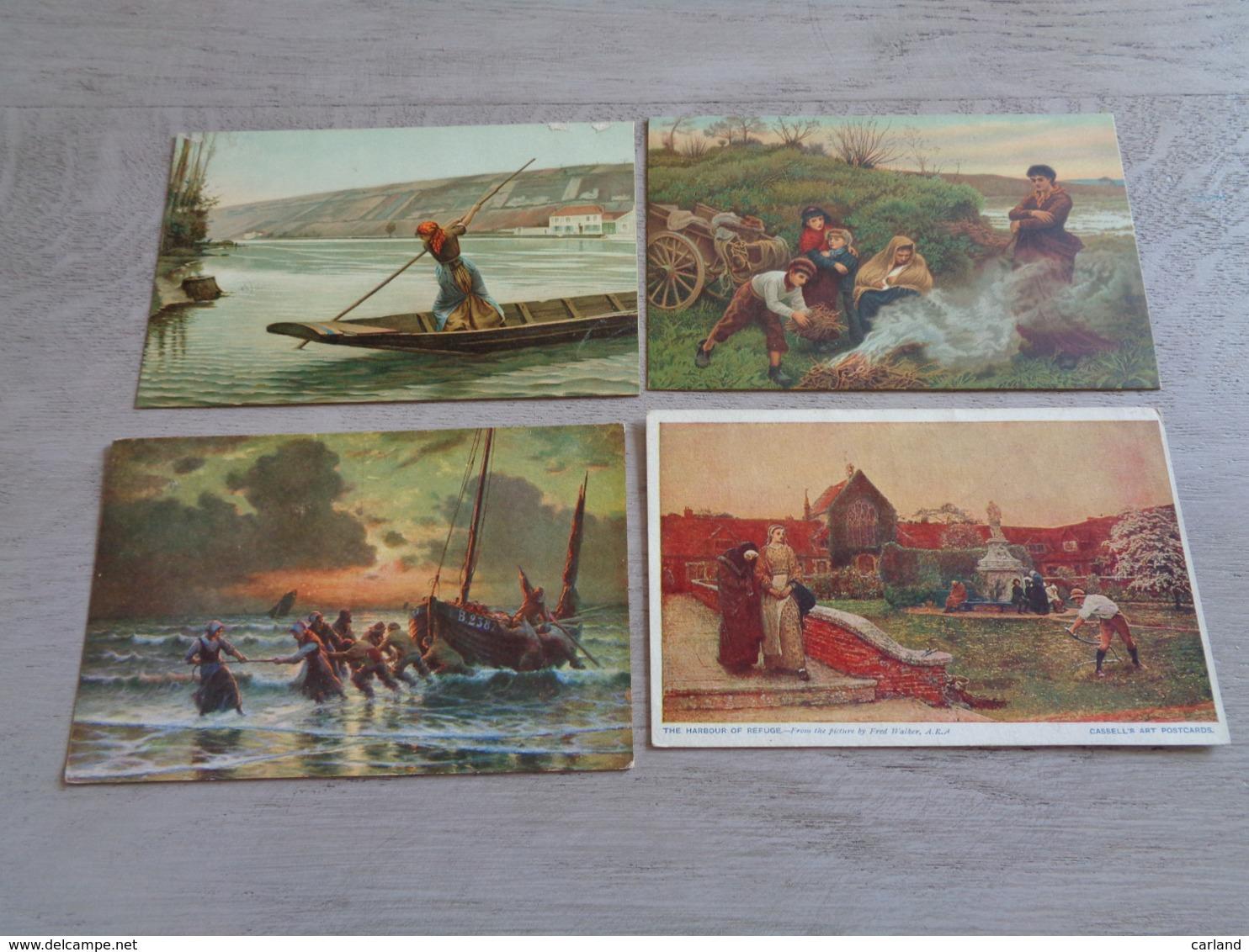 Beau Lot 60 Cartes Postales Fantaisie Peintures  Peinture     Mooi Lot 60 Postkaarten Fantasie  Schilderijen  Schilderij - Cartes Postales