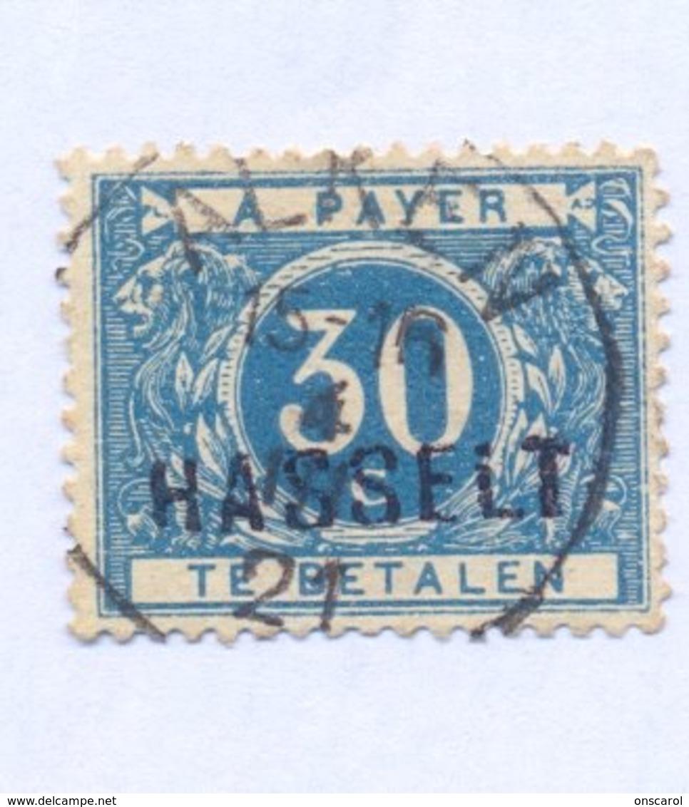 TX15A Met Naamstempel  HASSELT - Portomarken