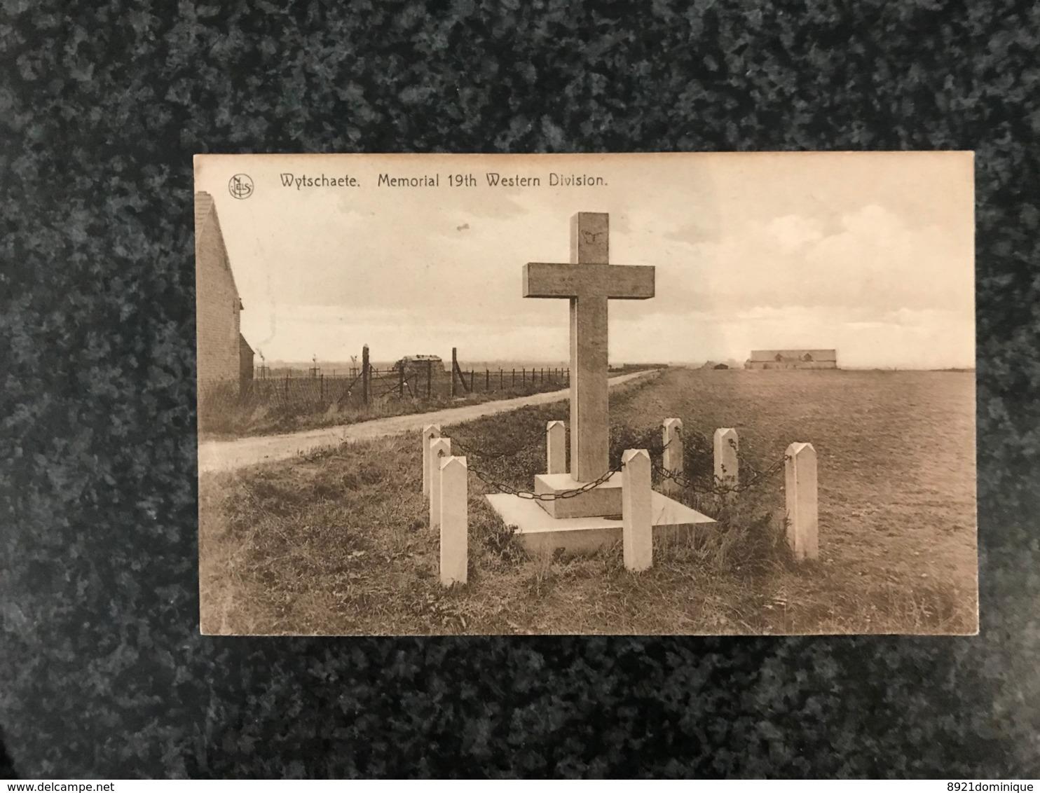 Wytschaete Memorial 19th Western Division - Wijtschate Heuveland - Guerre Mondial Worldwar - Heuvelland