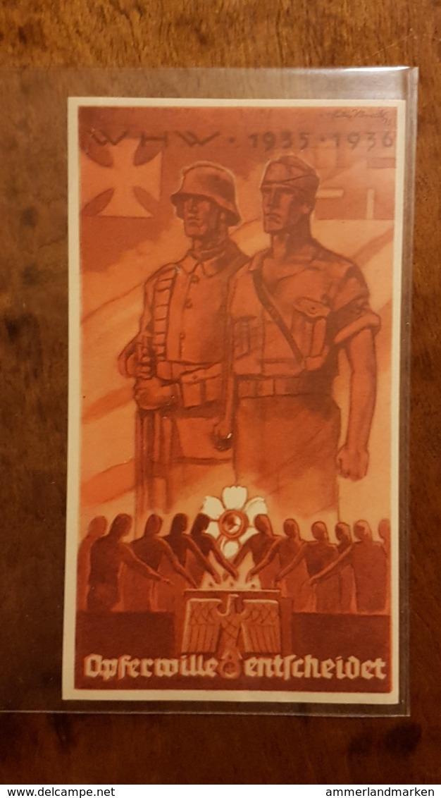 WHW Winterhilfswerk, Türplakette Opferwille Entscheidet 1935/6 - Dokumente