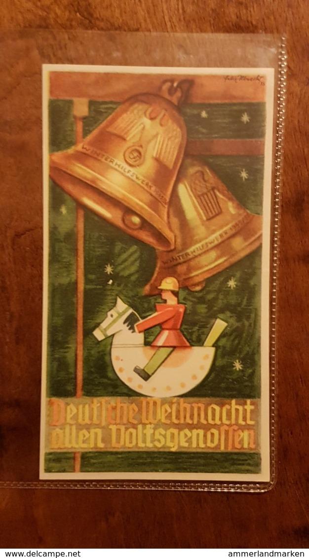 WHW Winterhilfswerk, Türplakette Deutsche Weihnacht Allen Volksgenossen 1935/6 - Dokumente