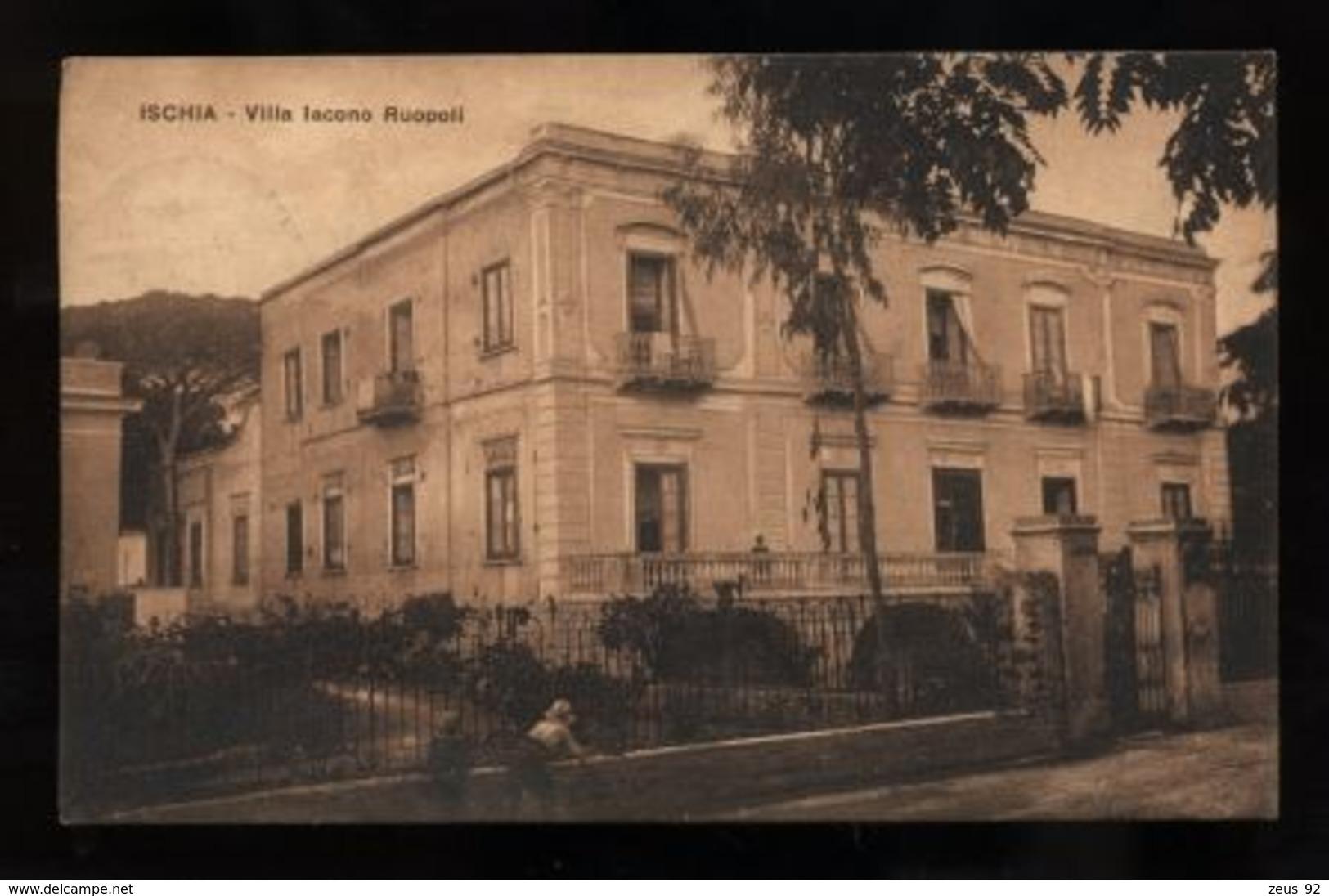 C2040 ISCHIA - VILLA IACONO RUSPOLI FORMATO PICCOLO VG 1926 - Italien