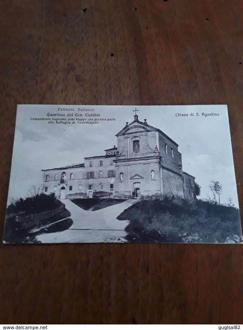 Cartolina Postale 1923, Fattoria Balleani Chiesa Di S. Agostino - Ancona