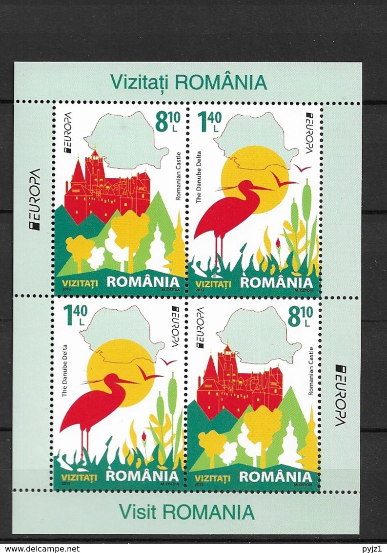 2012 MNH Romania Block 529-II, Postfris** - 2012