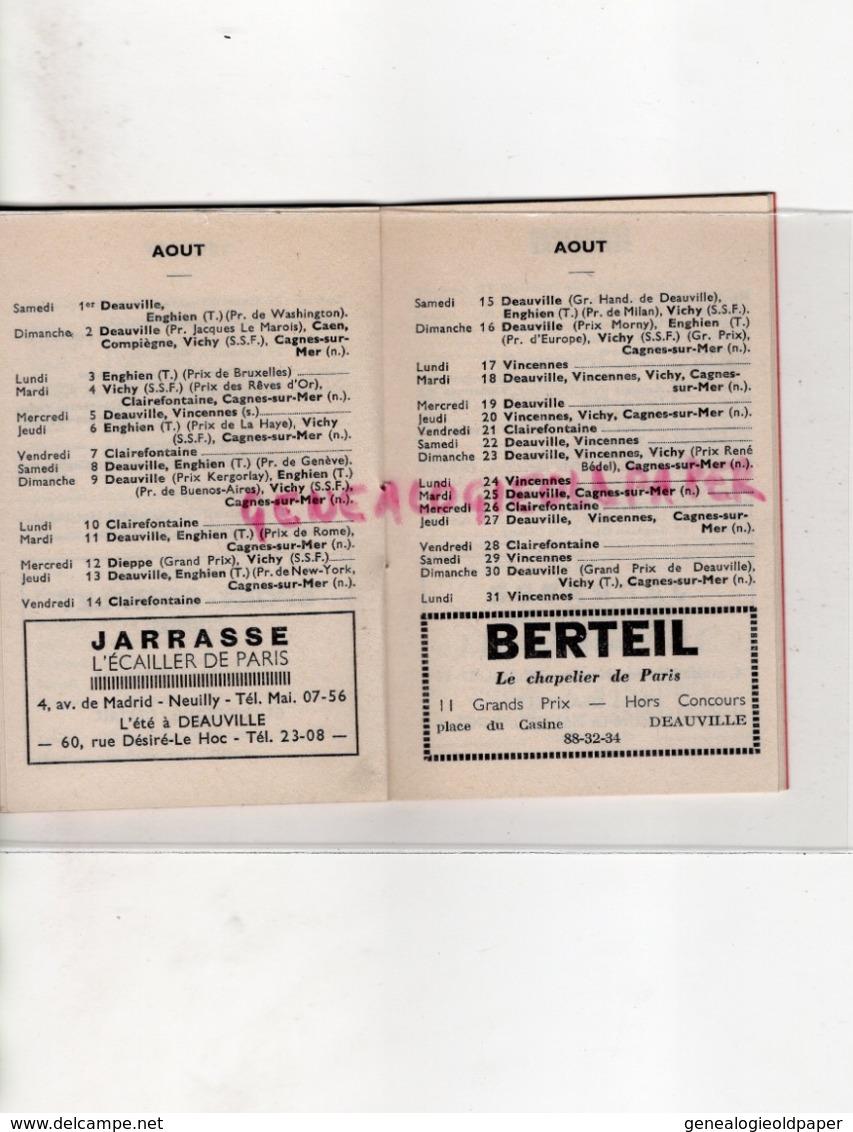 PETIT MINI CALENDRIER 1964-COURSES HIPPIQUES-SPORT COMPLET -CHEVAL-VINCENNES- CHANTILLY-DEAUVILLE-LONGCHAMP-VICHY - Calendriers