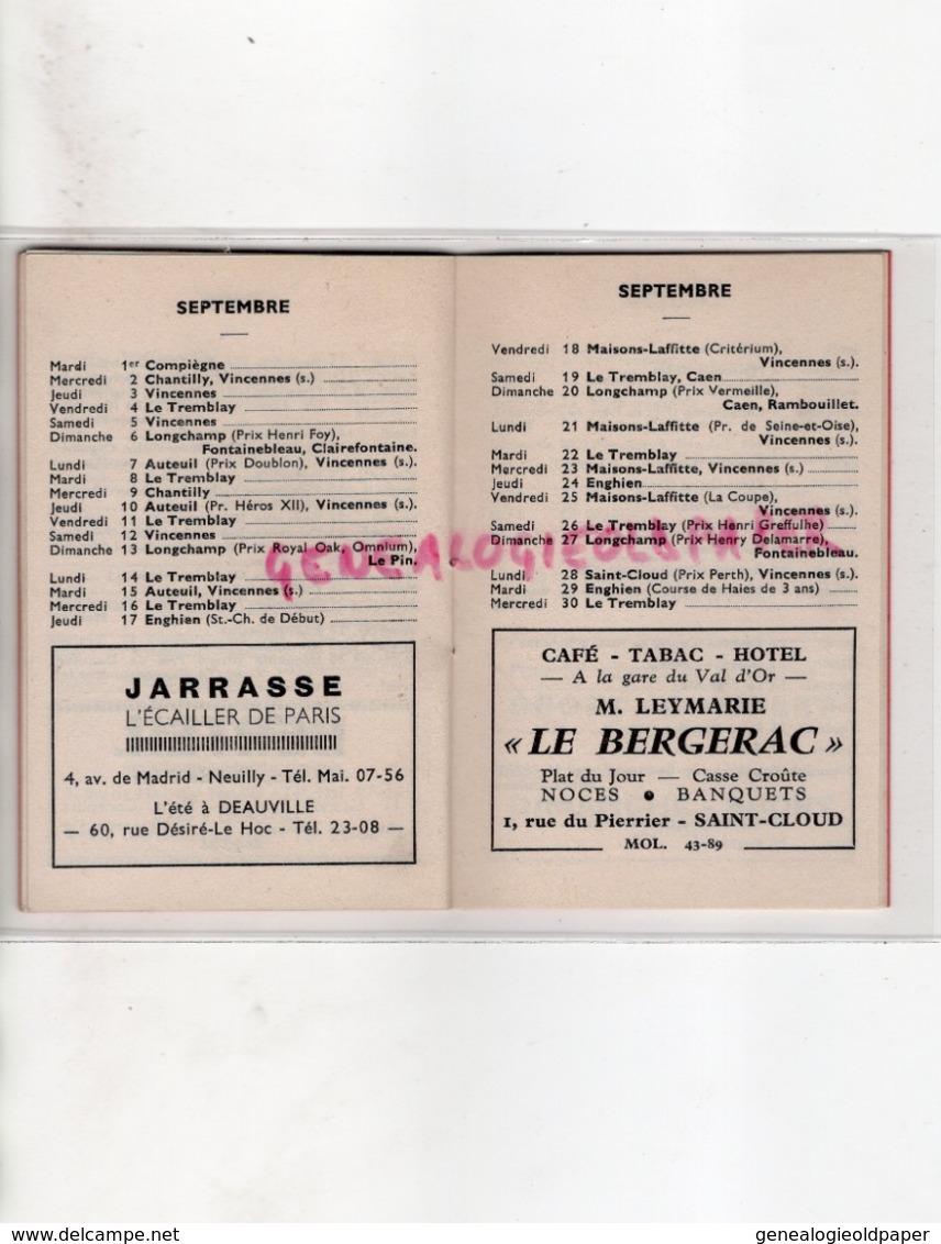 PETIT MINI CALENDRIER 1964-COURSES HIPPIQUES-SPORT COMPLET -CHEVAL-VINCENNES- CHANTILLY-DEAUVILLE-LONGCHAMP-VICHY - Petit Format : 1961-70