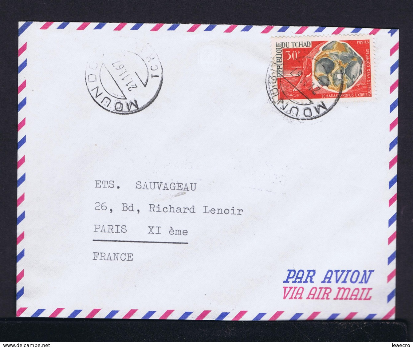 Préhistoric Hantropology TCHAD Moundou 1967 Tchadantrophus Uxoris Fouillrs Yves Coppens Gc4192 - Postzegels