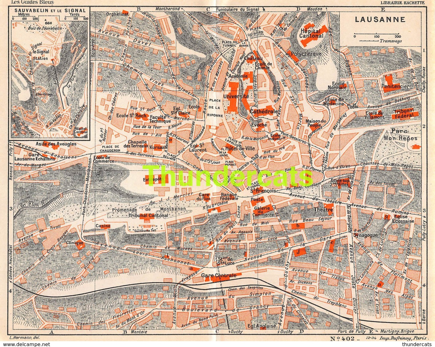 ANCIENNE PETIT PLAN COUPURE DEPLIANT HACHETTE  15 CM X 18 CM LAUSANNE - Cartes Routières