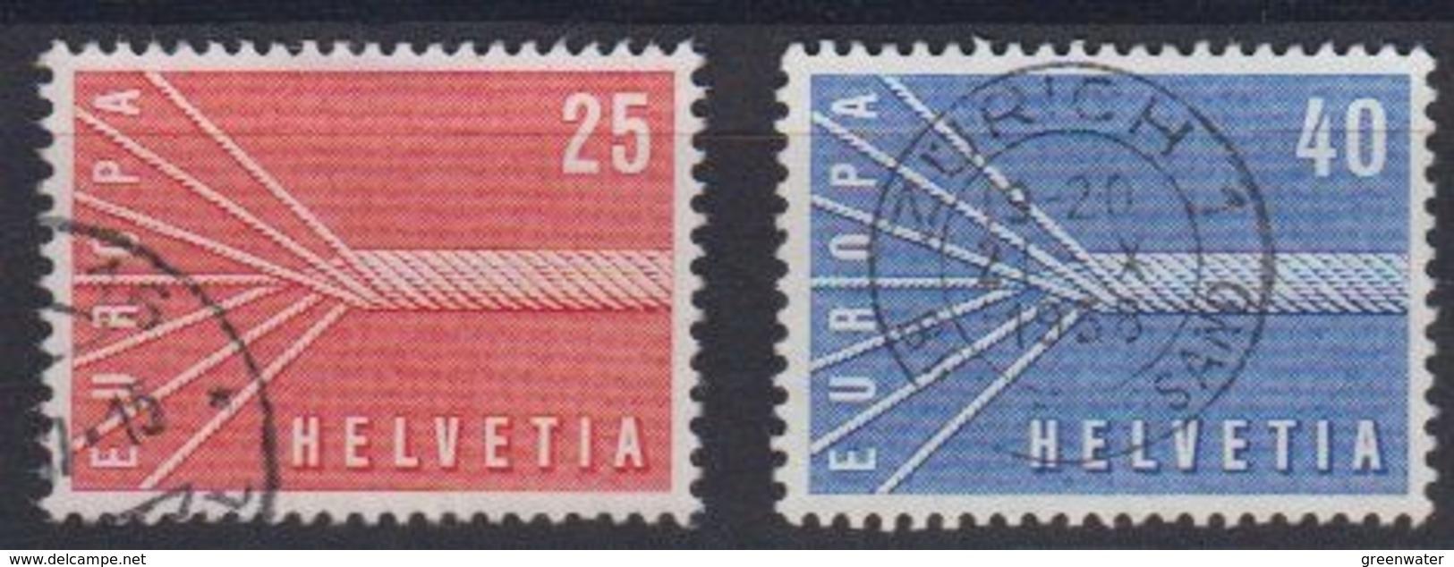 Europa Cept 1957 Switzerland 2v Used (44625B) - Europa-CEPT