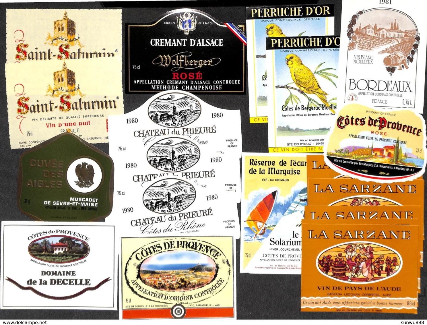 Petit Trésor !!!  + De 650 étiquettes Majorité VINS Mais Aussi Whisky Porto Liqueur Champagne Bonne Chasse ! - Etiquettes