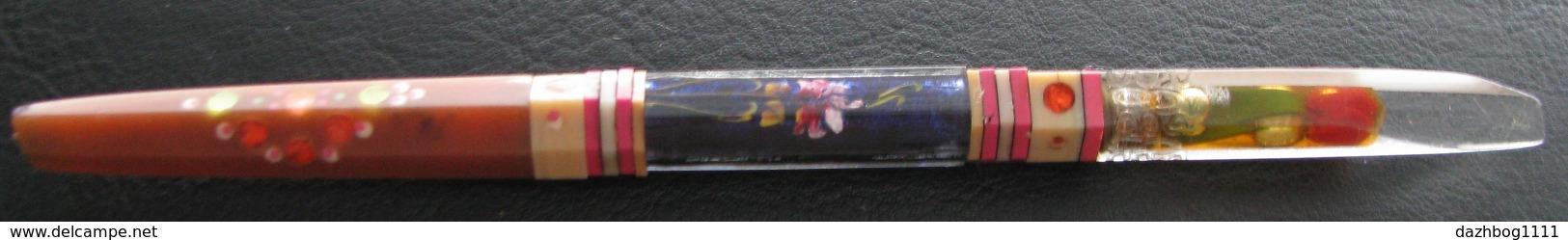 Vintage Handmade Soviet Ballpoint Pen Composite Plexiglas Prison Art USSR Soviet Russia - Other