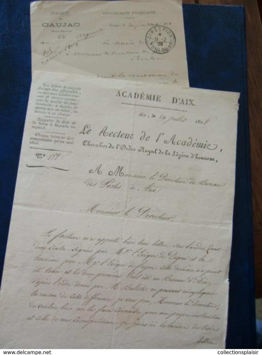 LIQUIDATION LETTRES CLASSIQUES SEMI MODERNES FRANCE ET ETRANGER ET DEVANTS/ A VOIR - Marcophilie (Lettres)