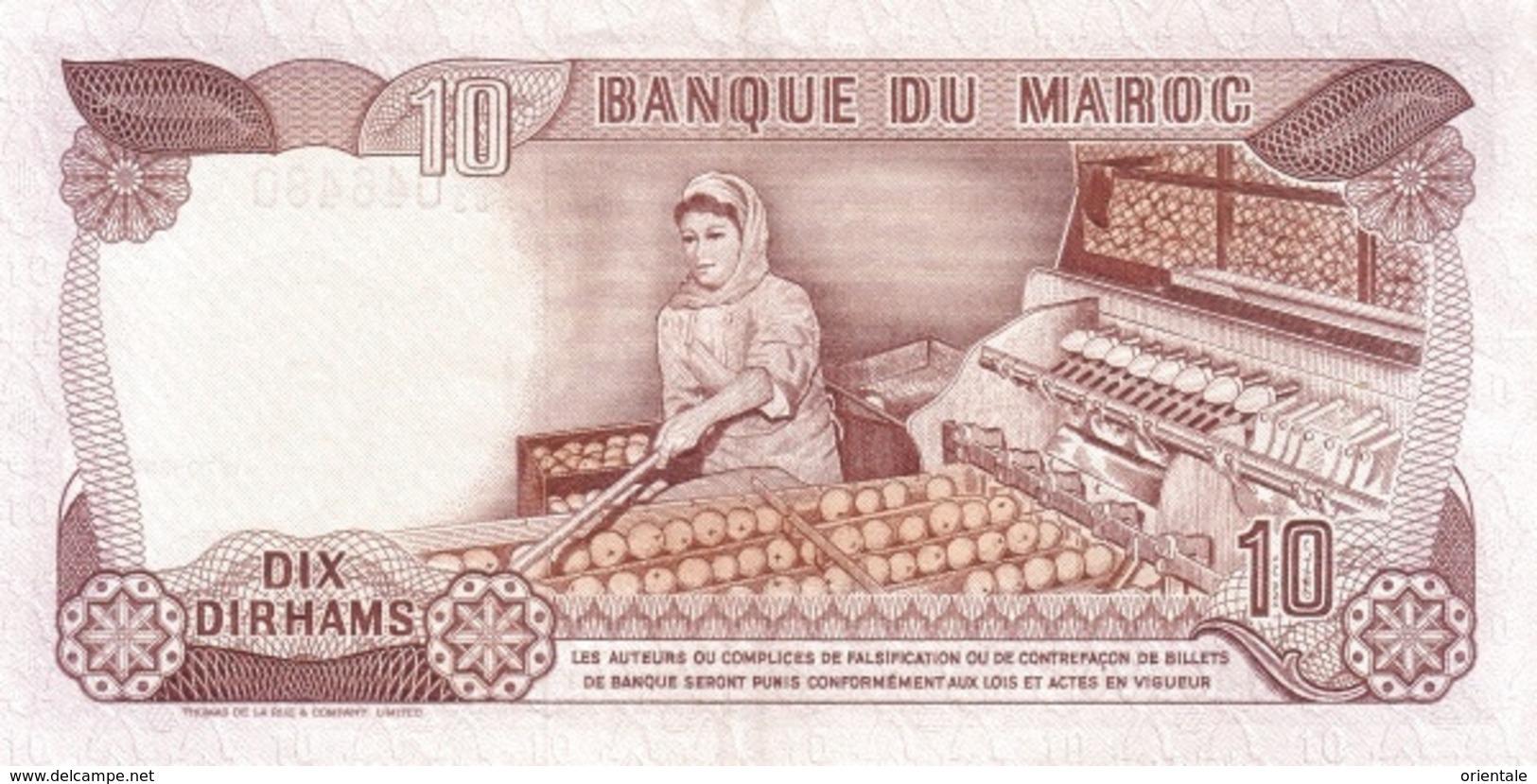 MOROCCO P. 57b 10 D 1985 UNC - Marocco