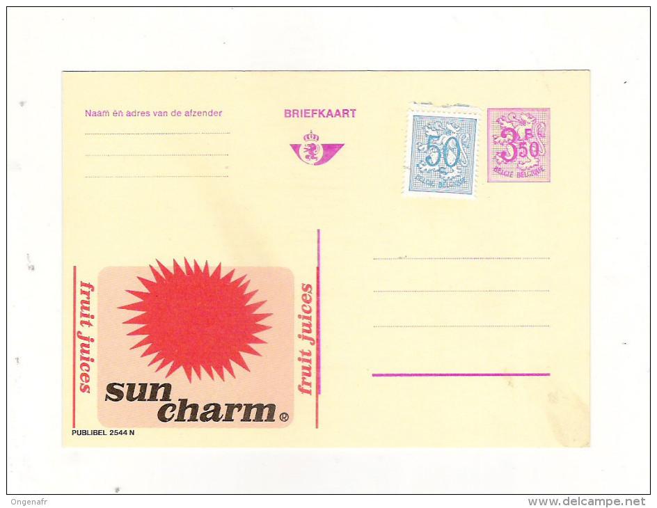 Publibel Neuve N° 2544 (Sun Charme, Soleil; Fruit Juices - Stamped Stationery