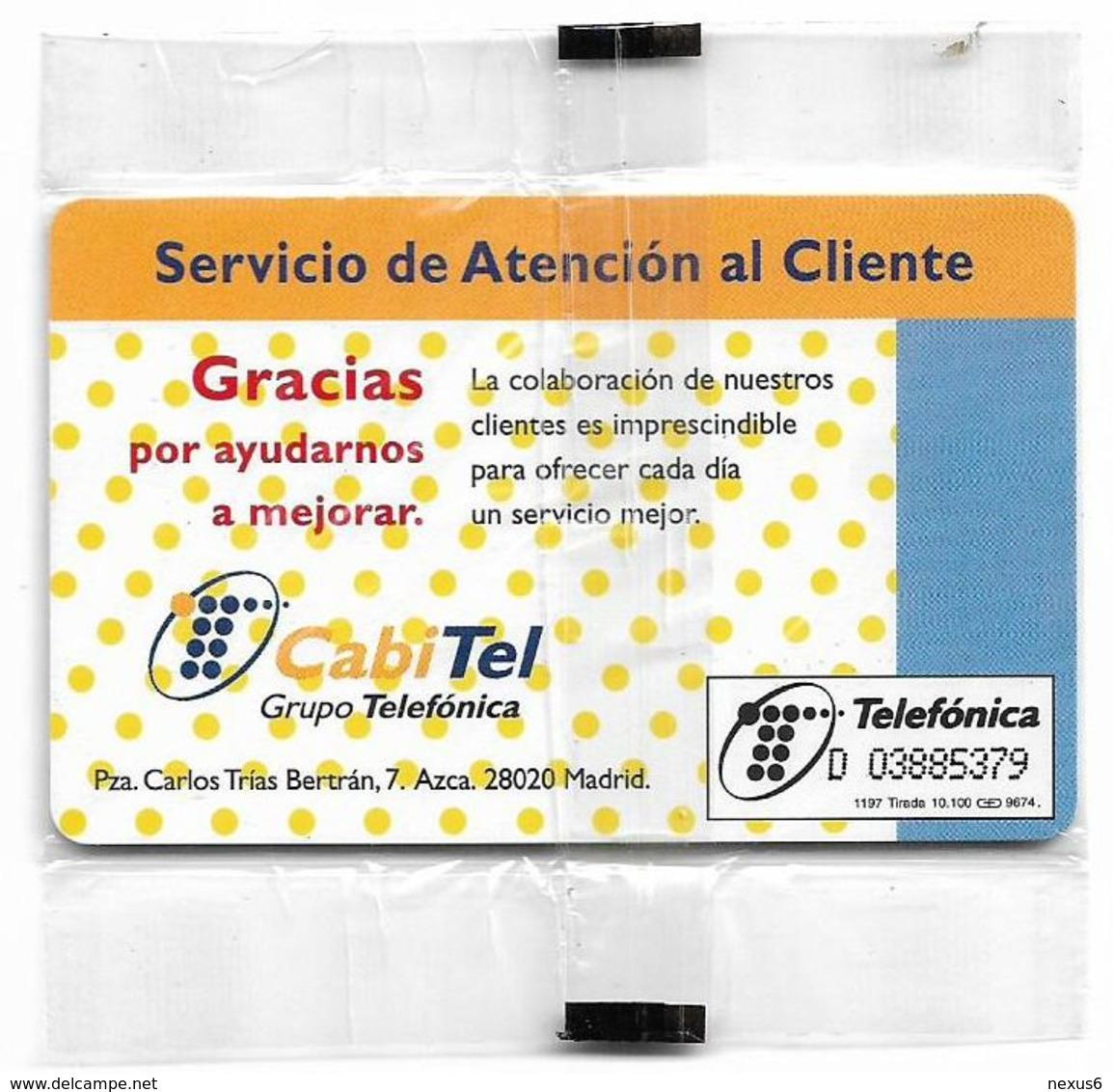 Spain - Telefonica - Servicio De Atencion Al Cliente - P-306 - 11.1997, 10.100ex, NSB - España