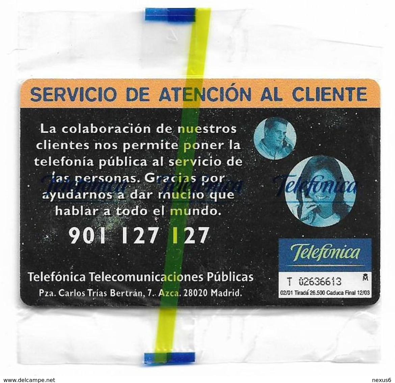 Spain - Telefonica - Servicio Al Cliente VIIIa - P-451A - 02.2001, 26.500ex, NSB - Spanien