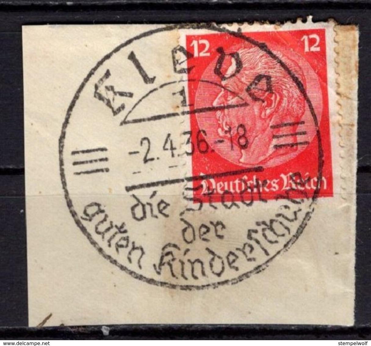 Briefstueck, Hindenburg, SoSt Kleve Kinderschuhe 1936 (78907) - Covers & Documents