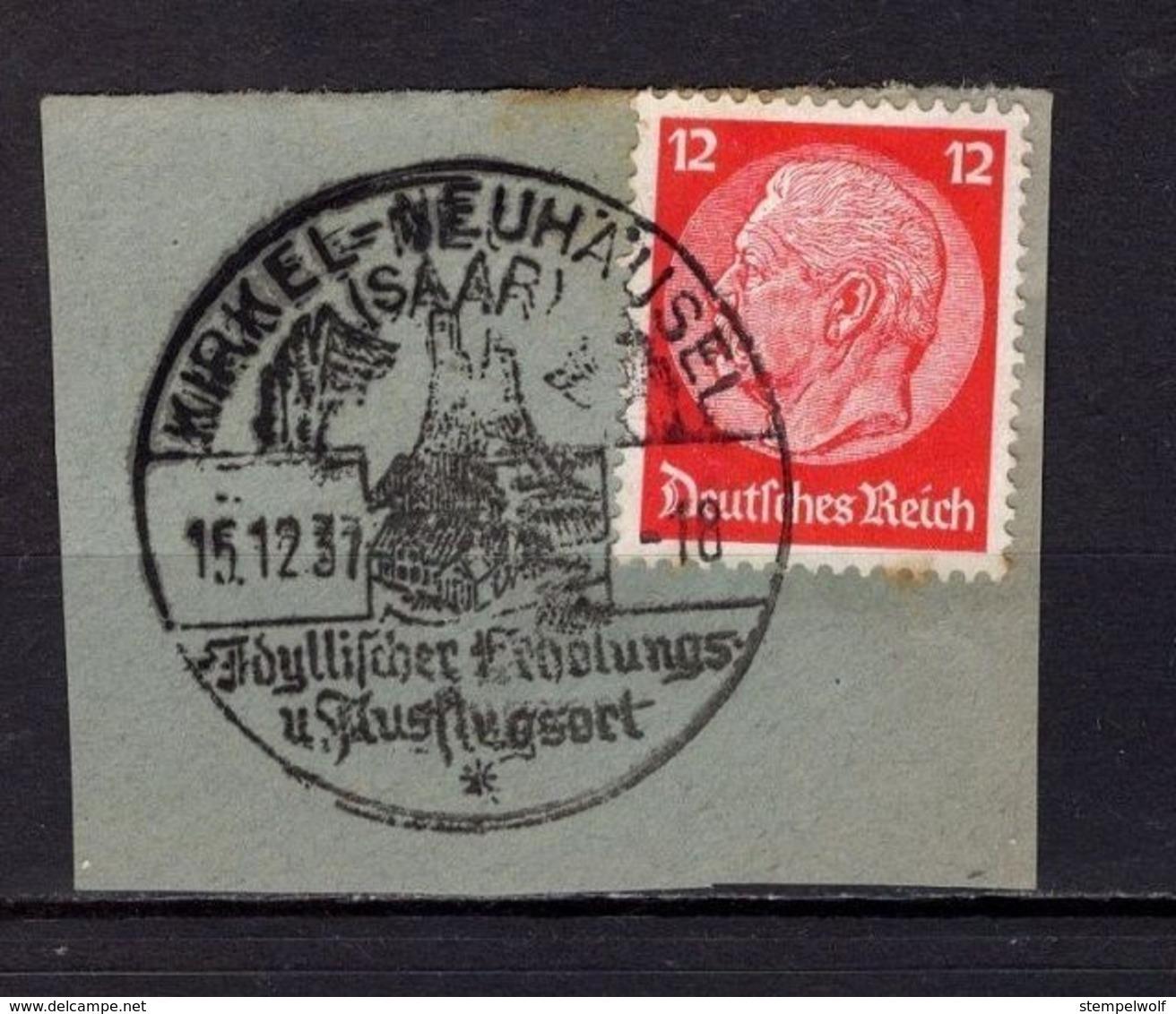 Briefstueck, Hindenburg, SoSt Burgruine Kirkel-Neuhaeusel 1937 (78908) - Covers & Documents