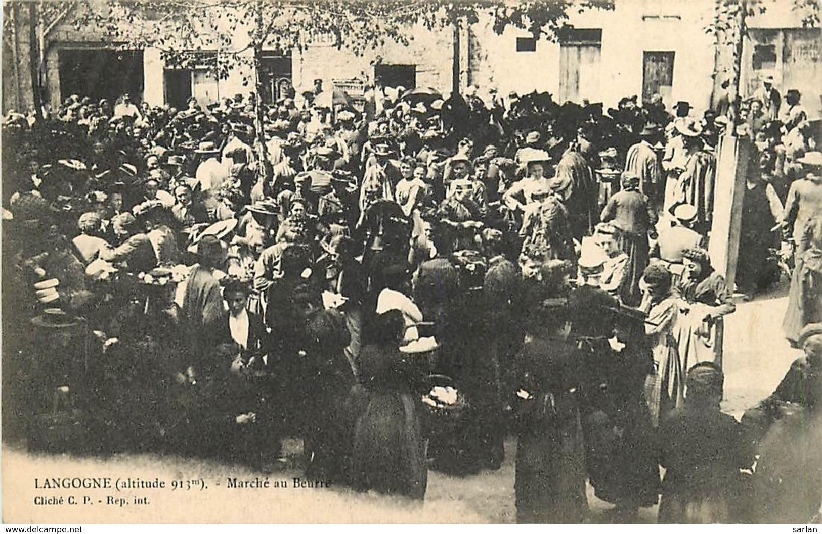 48 , LANGOGNE , Marché Au Beurre , * 432 38 - Langogne