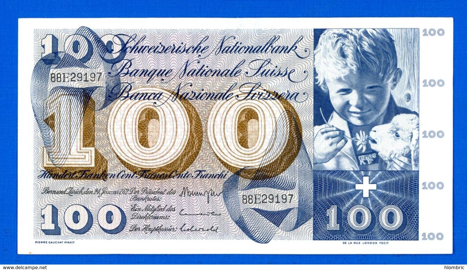 100 Fr  Du  24/ 1/1972 - Switzerland