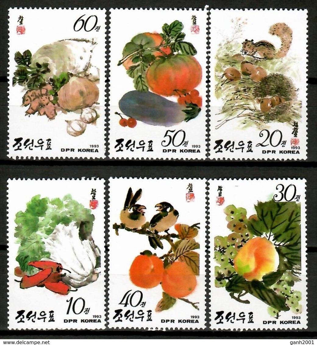 Korea North 1998 Corea / Vegetables MNH Verduras Hortalizas Gemüse / Cu13014  34-38 - Vegetables