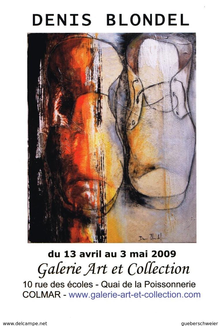 Affiche Exposition De Denis BLONDEL à Colmar Ft 32 X 45 Cm - Acryliques
