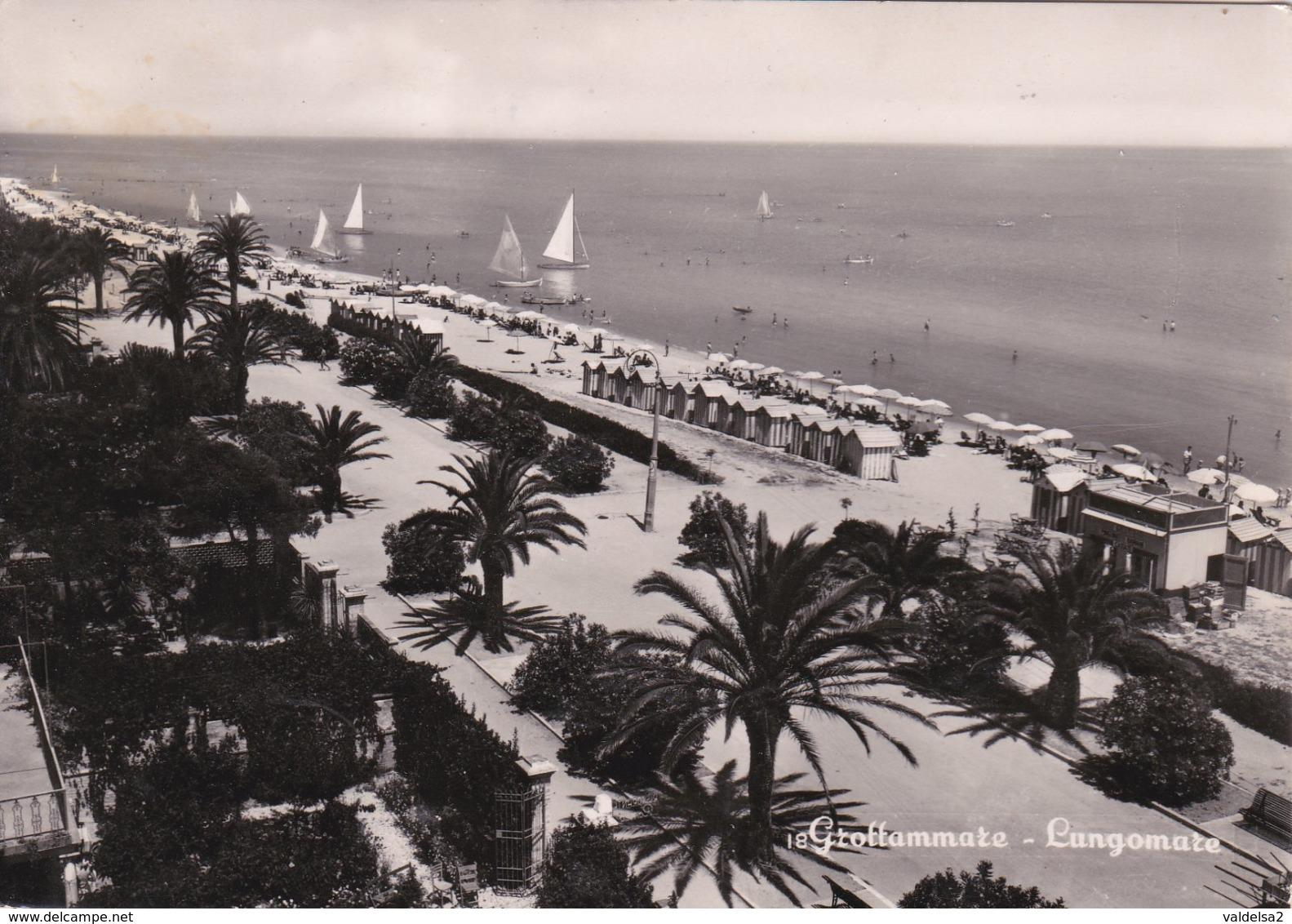 GROTTAMMARE - ASCOLI PICENO - LUNGOMARE E SPIAGGIA - 1952 - Ascoli Piceno
