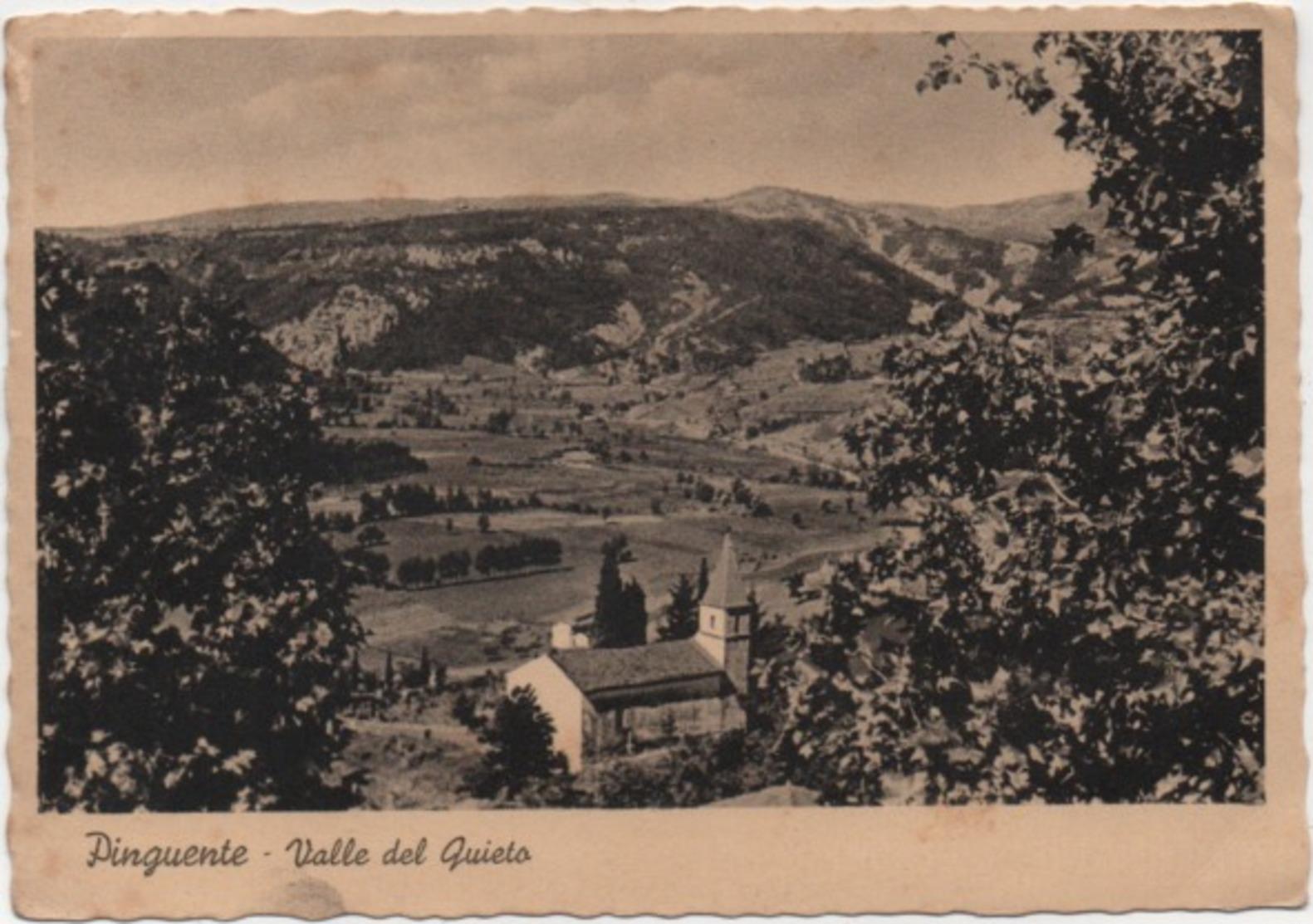 Pinguente, Pola (Buzet, Pula): Valle Del Quieto. Viaggiata 1952 Con Annullo Pinguente Pola - Croatie
