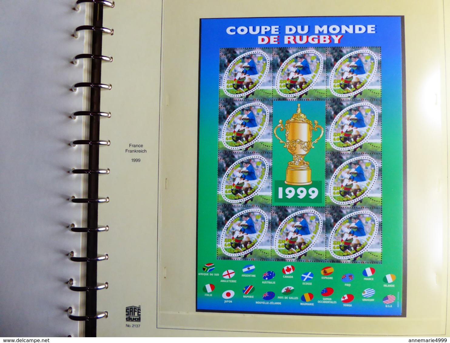 FRANCE Année 1999 COMPLETE Avec Tous Les Blocs Et Les Carnets Faciale 72 € Moins 50 % TTB Neufs Sans Charnières MNH - 2000-2009