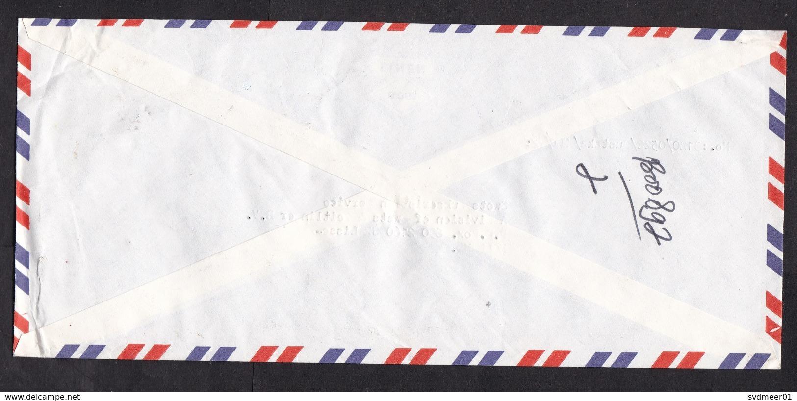 Indonesia: Registered Cover To Netherlands, 1985, 3 Stamps, Bomb Into Tree, Peace, UN, R-label Bogor (minor Damage) - Indonesië