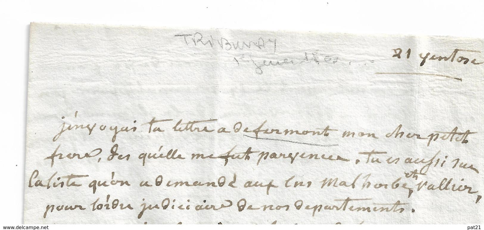 """CONSULAT: """"TRIBUNAT"""" Bonaparte, Defermon, Houitte De La Chesnay Port Malo (Saint Malo) - Documents Historiques"""