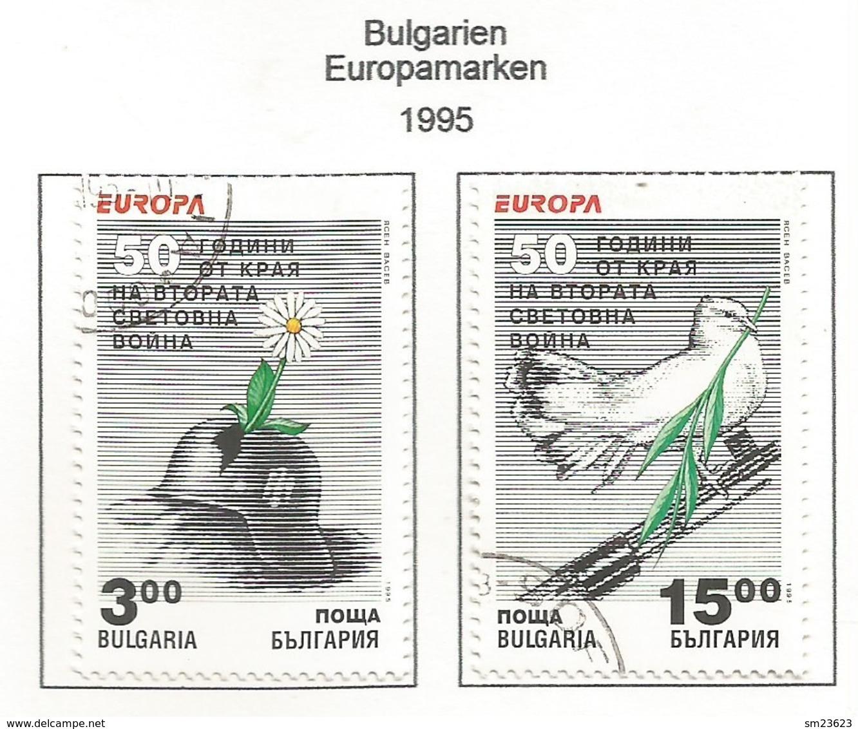 Bulgarien / Bulgaria  1995  Mi.Nr. 4151 / 4152 , EUROPA CEPT - Frieden Und Freiheit - Gestempelt / Fine Used / (o) - Europa-CEPT