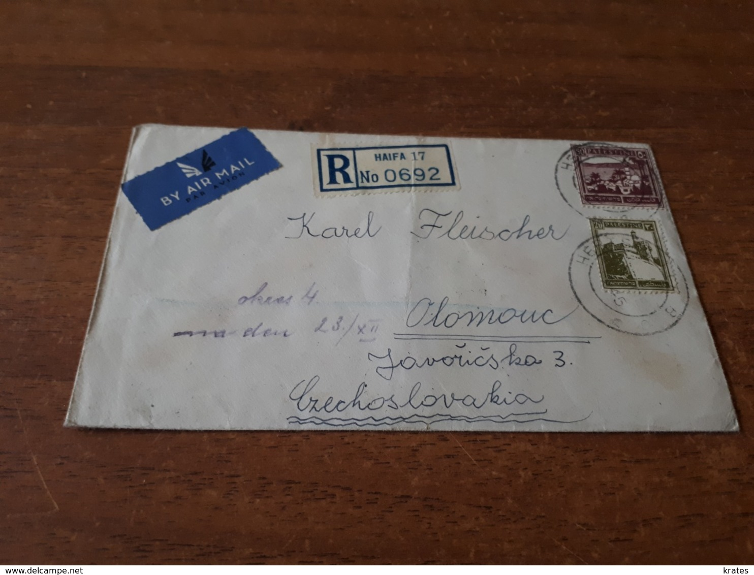 Old Letter - Palestine - Palestina