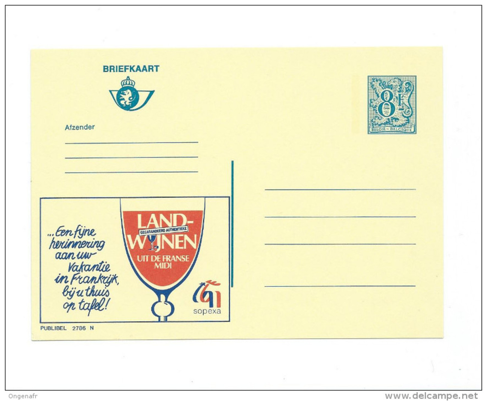 Publibel Neuve N°  2786 (Vin De France) - Publibels