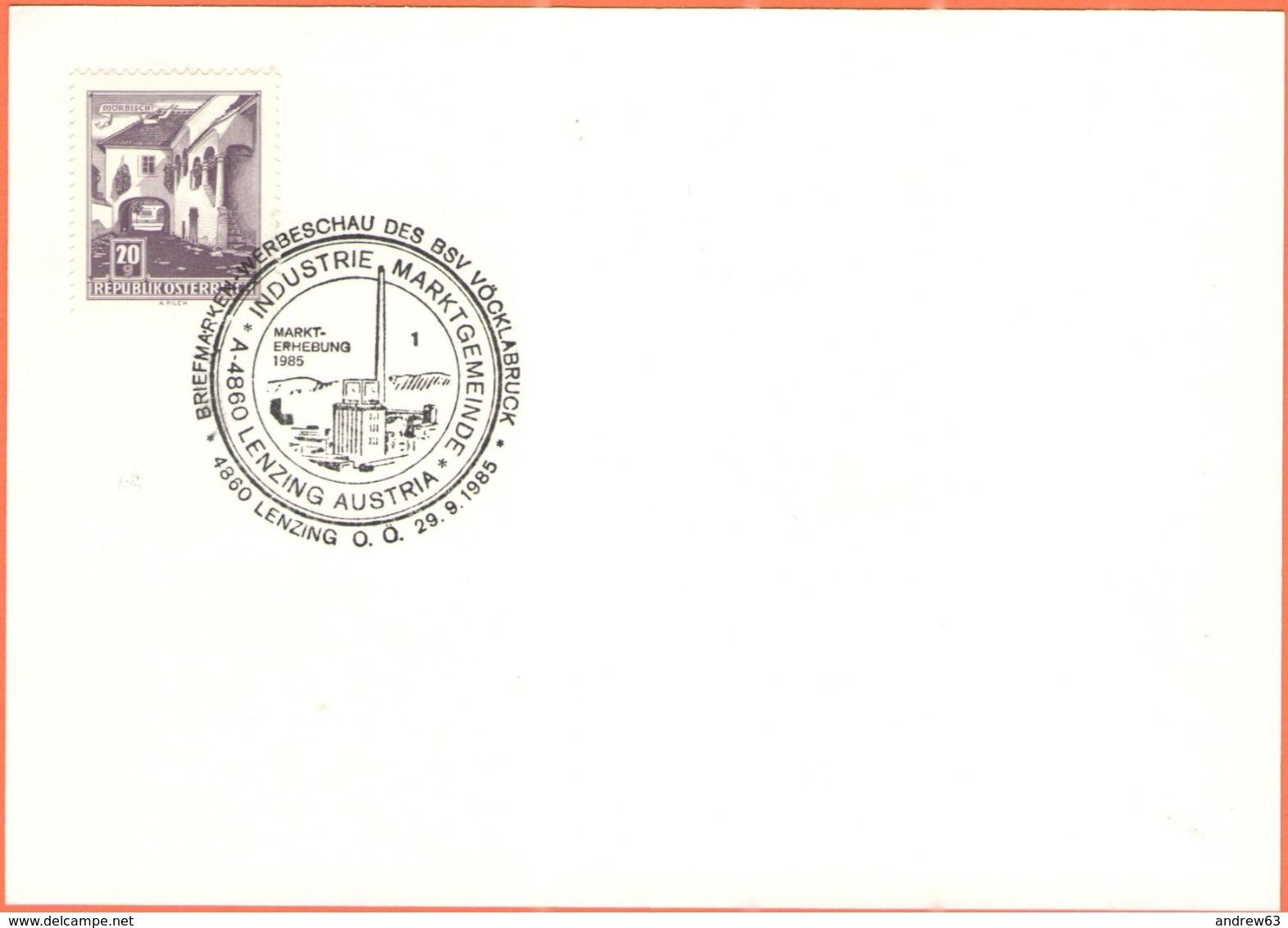 AUSTRIA - ÖSTERREICH - Autriche - 1985 - 20g Mörbisch + Sonderstempel Lenzing - 1945-.... 2a Repubblica