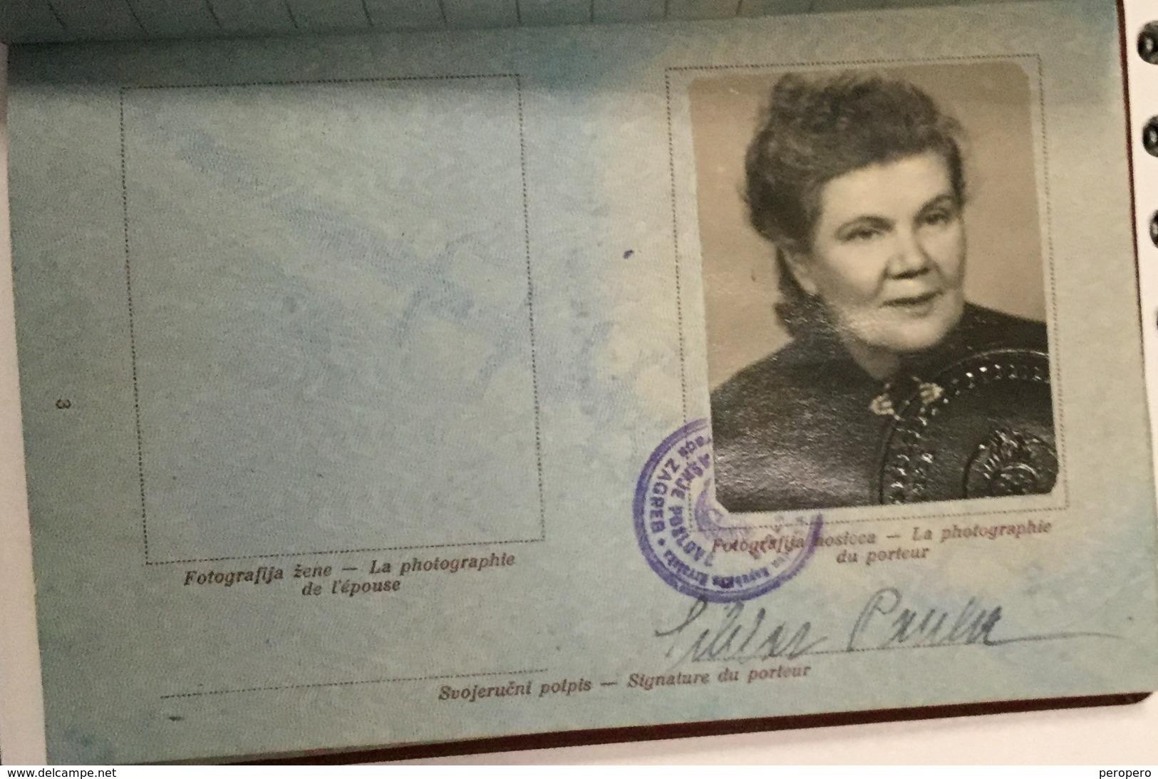 PASSPORT   REISEPASS  PASSAPORTO   PASSEPORT VISA TO:  ITALIA , AUSTRIA - Historische Dokumente