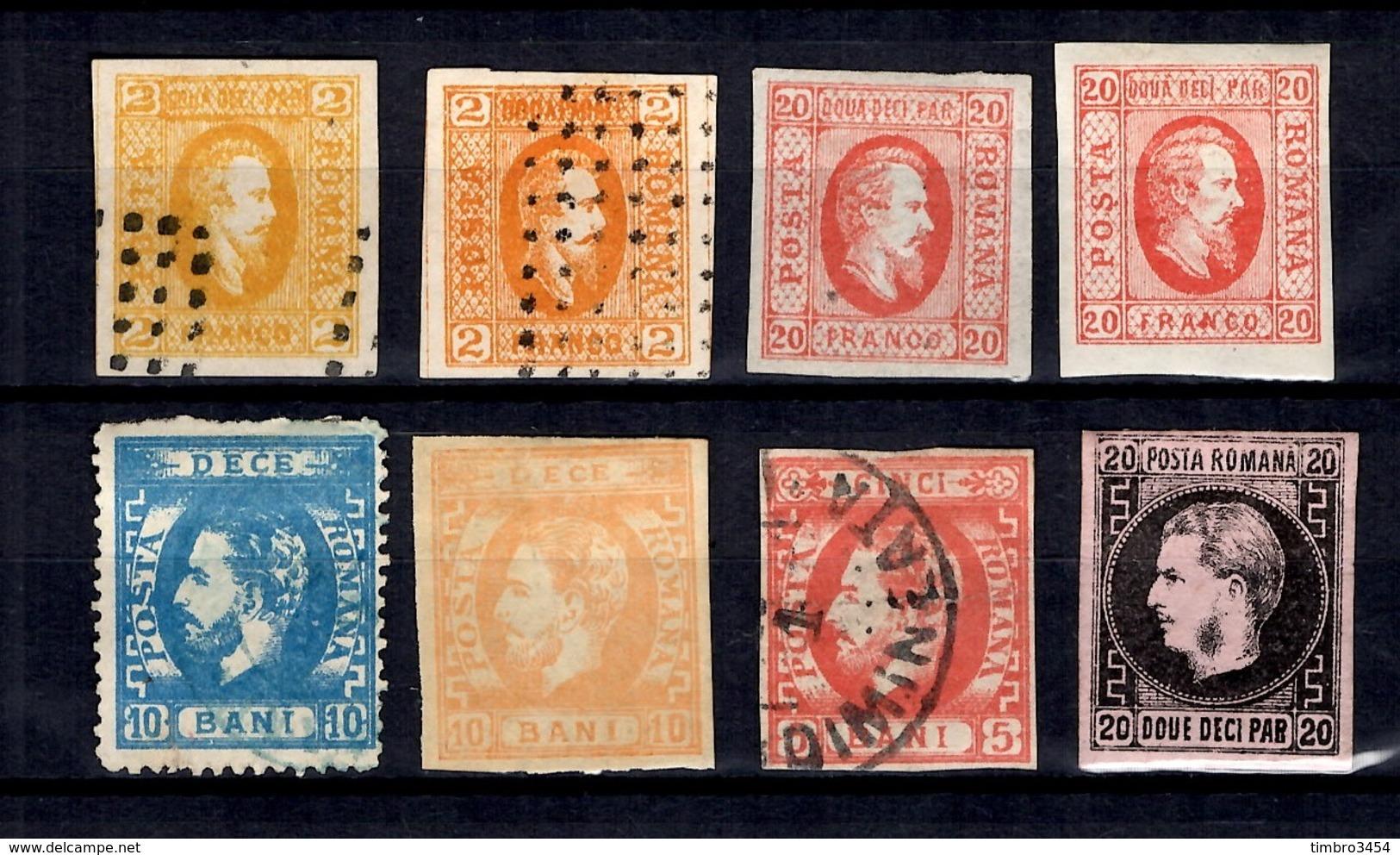 Roumanie Huit Classiques Neufs Et Oblitérés 1865/1872. Bonnes Valeurs. B/TB. A Saisir! - 1858-1880 Moldavië & Prinsdom