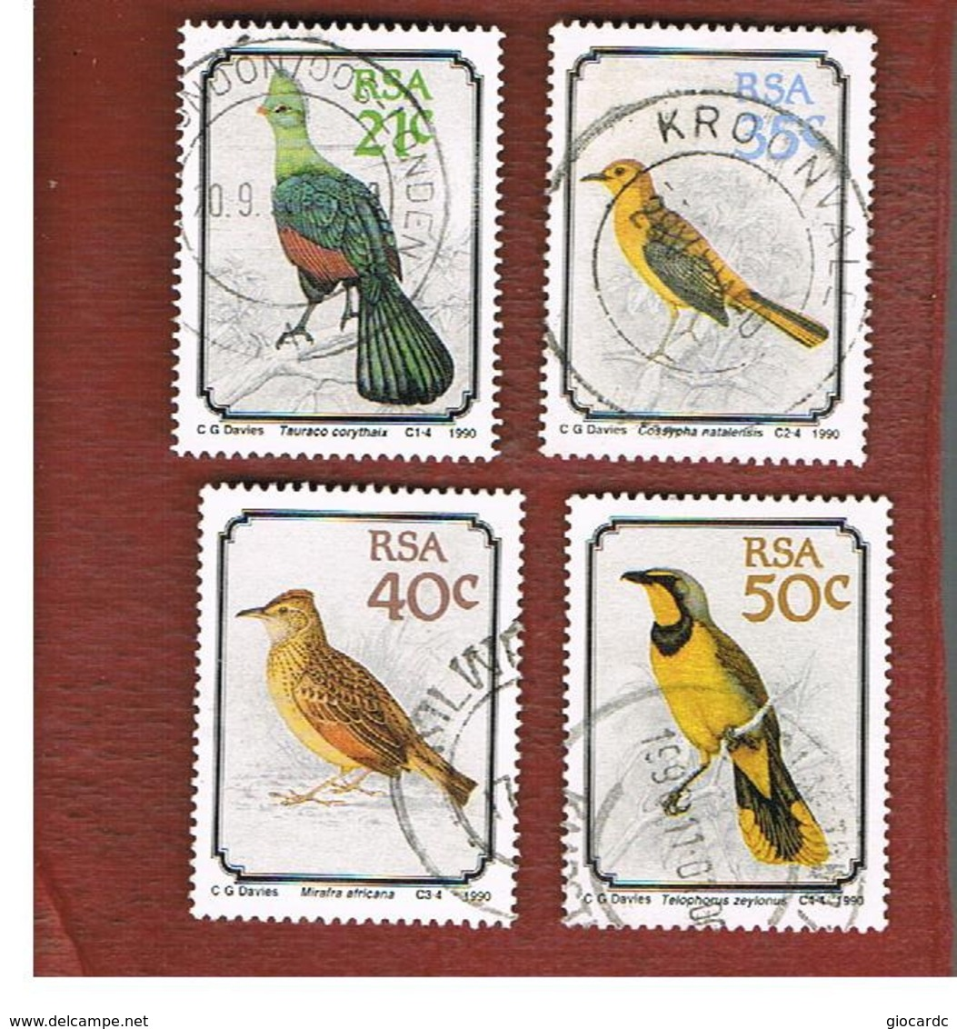 SUD AFRICA (SOUTH AFRICA) - SG 710.713     - 1990   BIRDS  (COMPLET SET OF 4)   - USED ° - Sud Africa (1961-...)