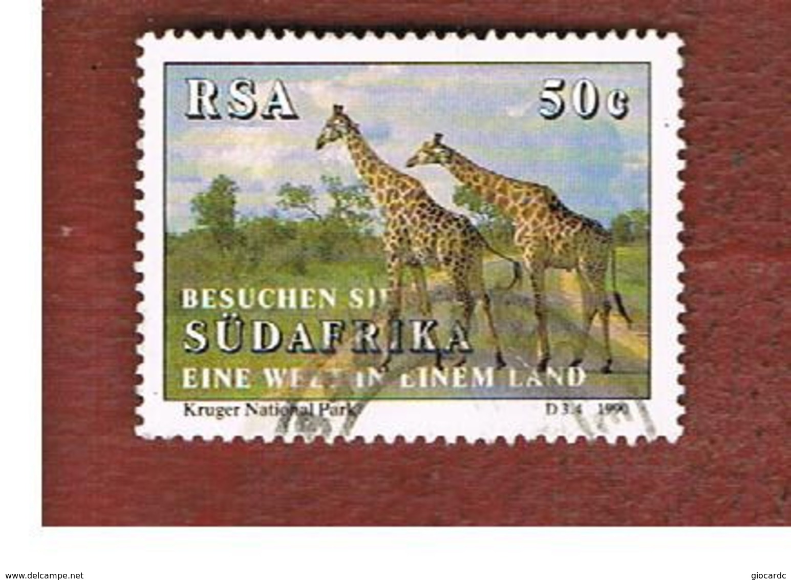 SUD AFRICA (SOUTH AFRICA) - SG 716     - 1990   ANIMALS: GIRAFFES IN NATIONAL PARK   - USED ° - Usati