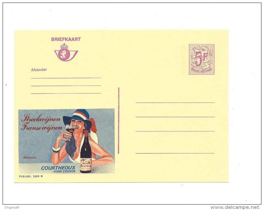 Publibel Neuve  N° 2688 ( Vin De France) - Stamped Stationery