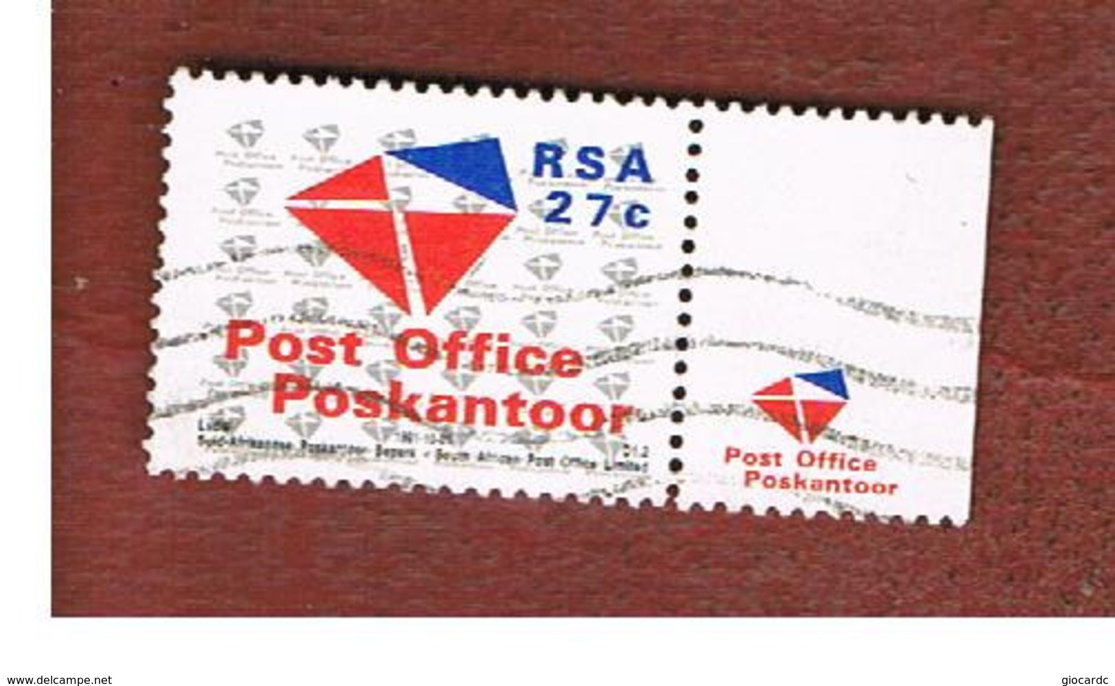 SUD AFRICA (SOUTH AFRICA) - SG 734 - 1991 POST OFFICE ESTABLISHMENT (WITH LABEL)  - USED - Sud Africa (1961-...)