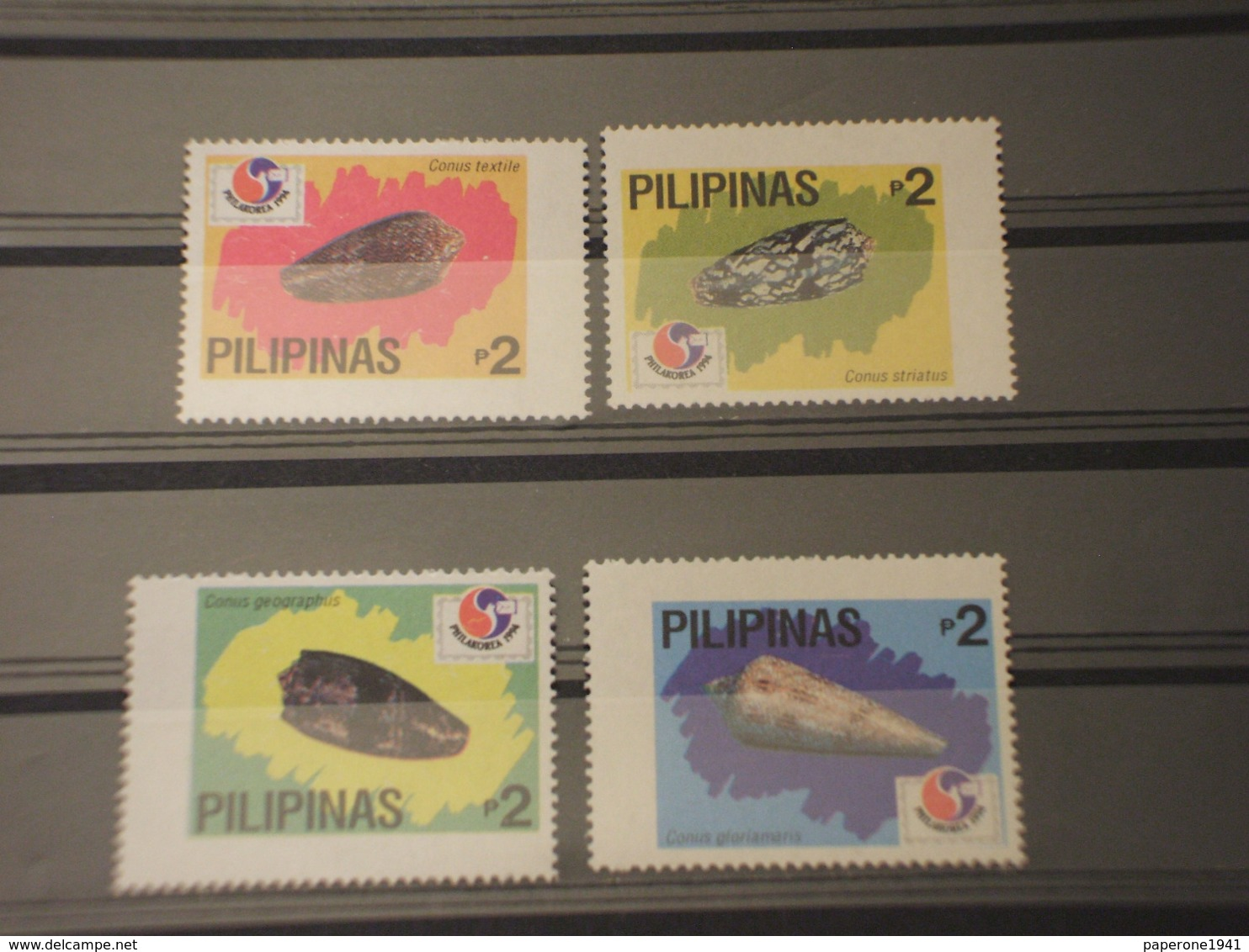 FILIPPINE - 1994 CONCHIGLIE 4 VALORI-  NUOVI(++) - Filippine