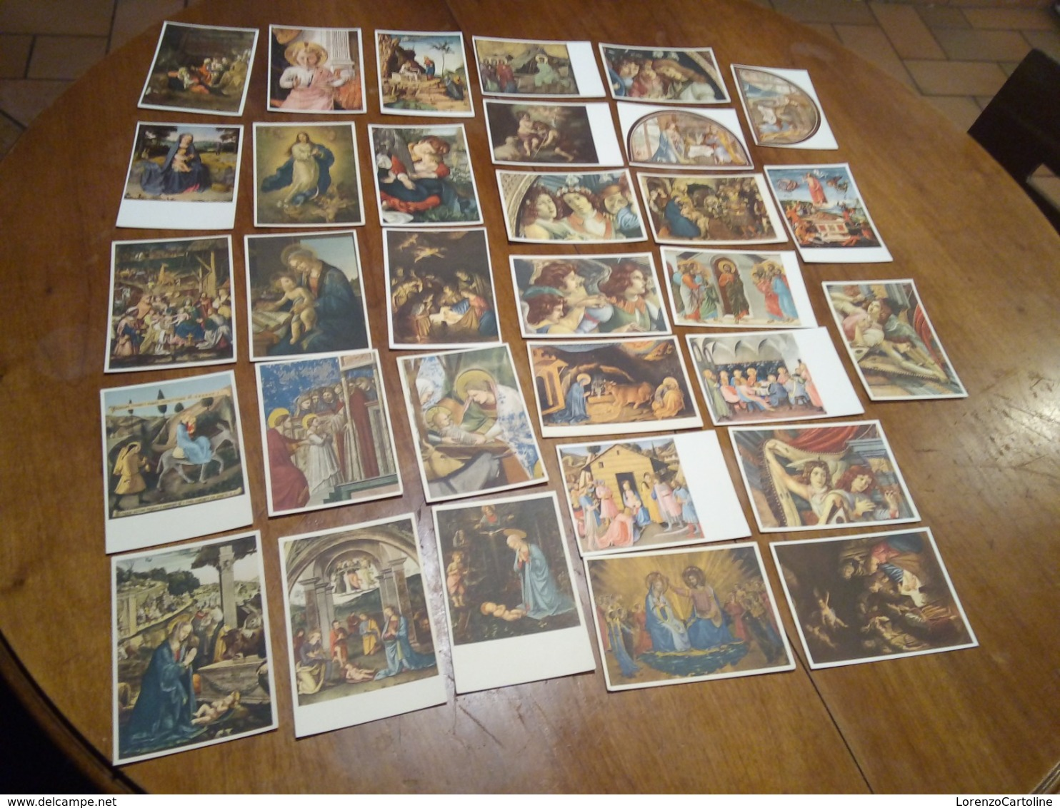 32 Cartoline NON VIAGGIATE Pittori Madonna Con Bambino Altri Temi Classici Religiosi - Pittura & Quadri