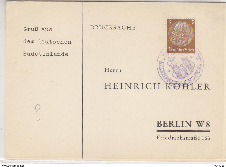 Sudetenland - Köhlerkarten Aus ..LESKAU + ??? - Occupation 1938-45