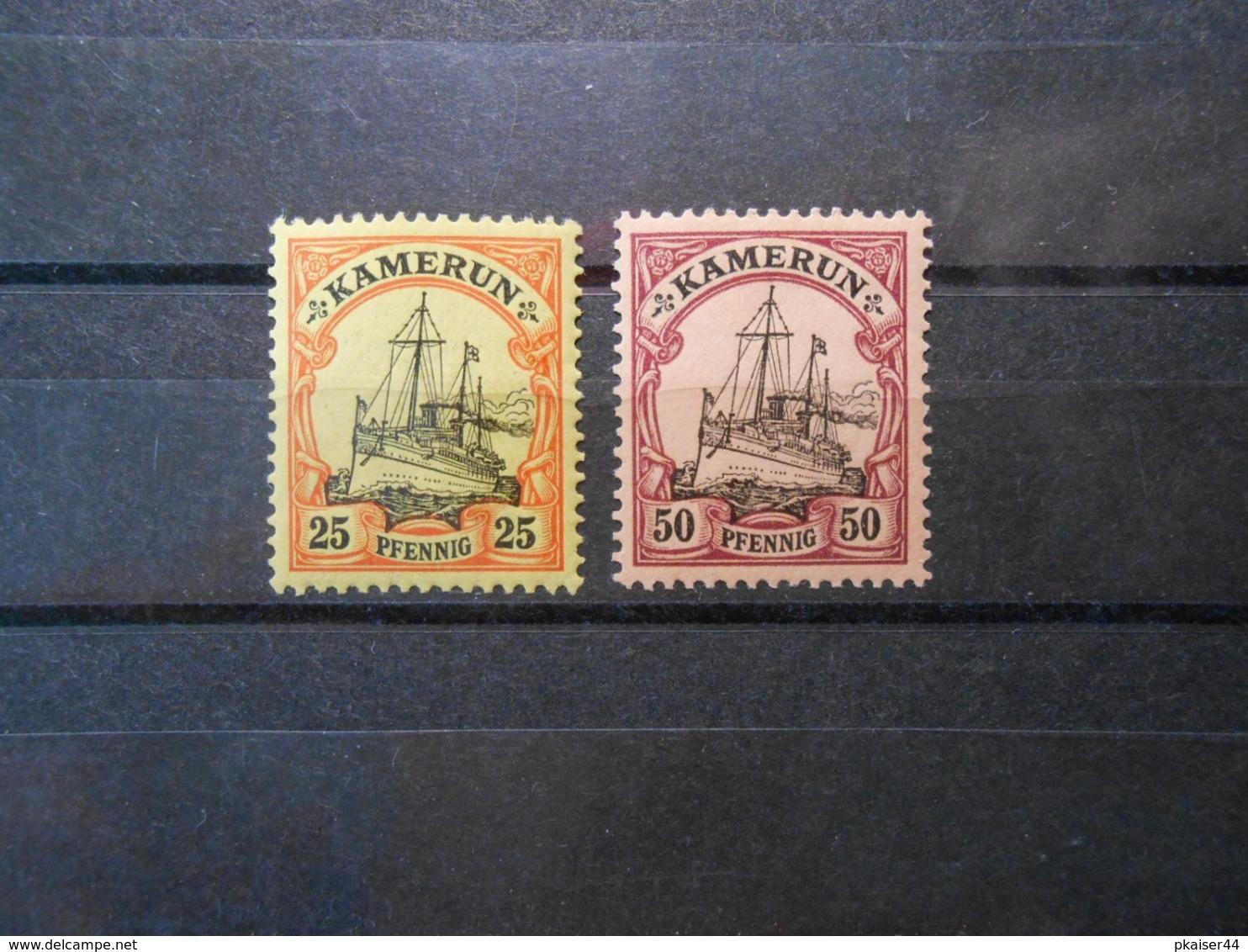 D.R.11/14  25Pf**MNH/50Pf*MLH  Deutsche Kolonien (Kamerun) 1900  Mi 7,40 € - Colonie: Cameroun