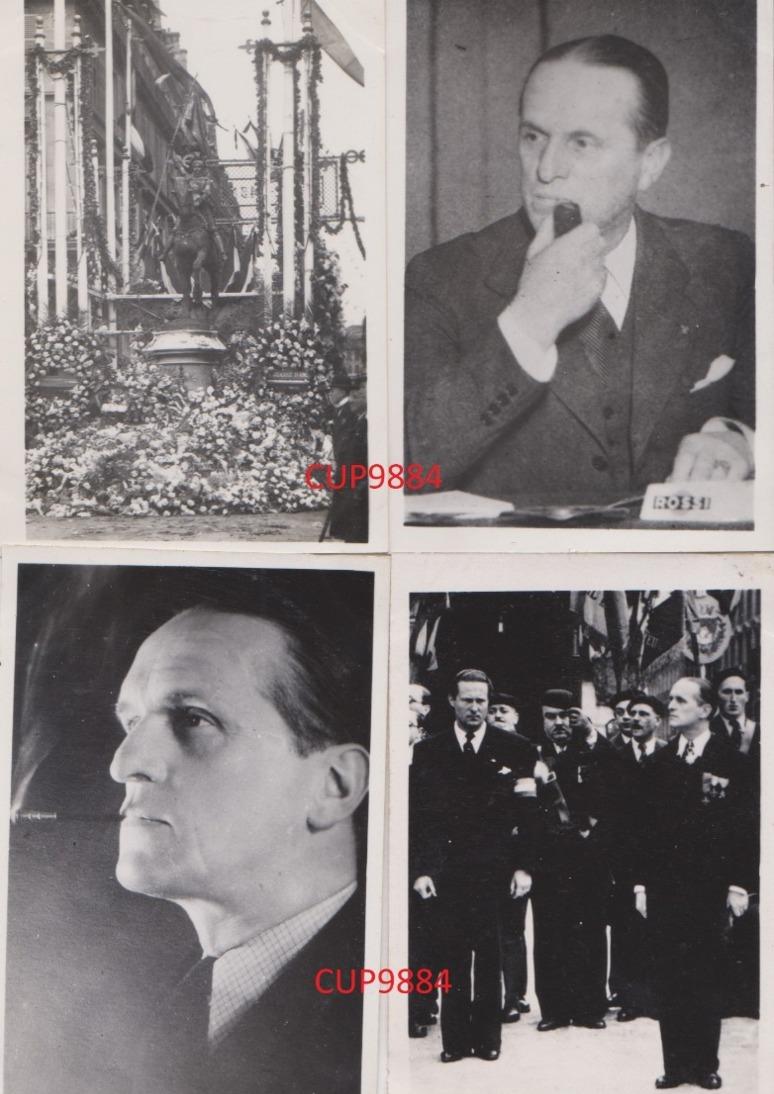 DE  LA  ROCQUE  -  CROIX  DE  FEU  :  10  PHOTOS  6  X  9  Cm  .  FONDATEUR  DU  PSF  (  Parti Social  Français )  . - Célébrités