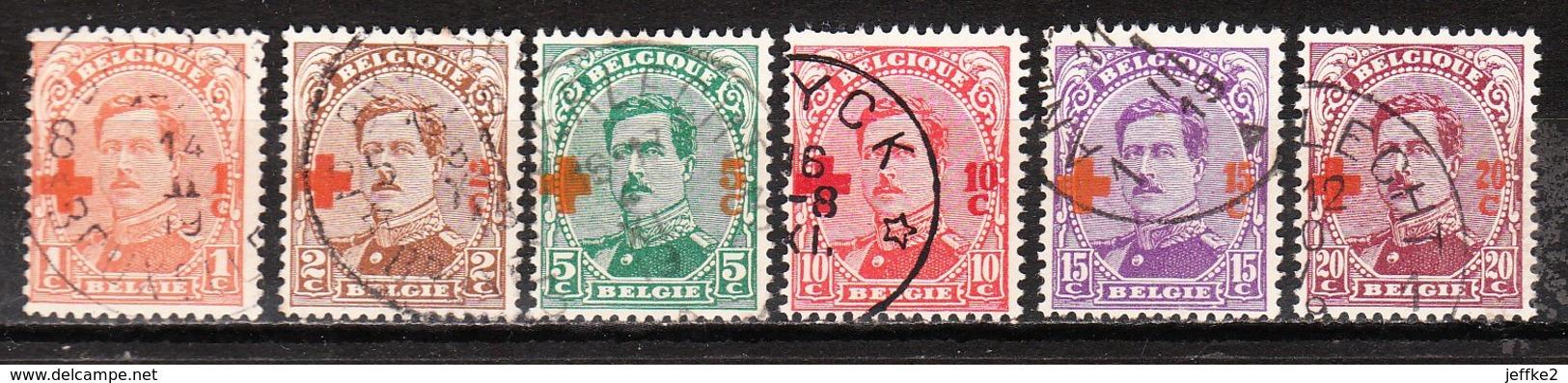 150/55  Croix-Rouge - Bonnes Valeurs - Oblit. - LOOK!!!! - 1918 Red Cross
