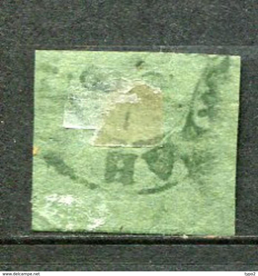 BRUNSW - Yv. N° 6 Mi. N°10  FILIGRANE Wz1 (o) 1/2s Noir S Vert Fausse Oblitération ??   Cote  300 Euro  BE R  2 Scans - Braunschweig