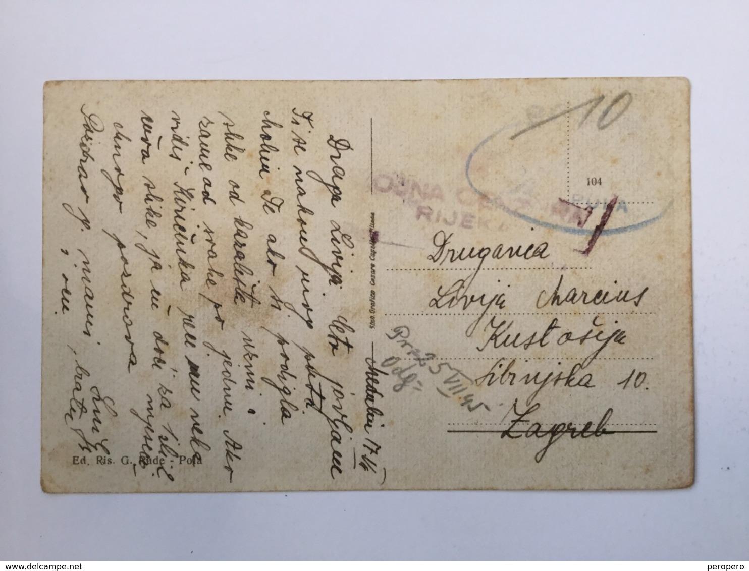 ISTRIA  ISTRA   ZONA B   PULA  POLA   05.07.1945   VOJNA CENZURA - Storia Postale