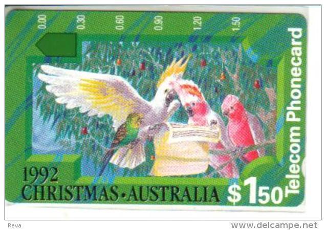 AUSTRALIA $1.50 CHRISTMAS 1992 BIRD CHOIR PARROT CARTOON MINT AUS-064 READ DESCRIPTION  !! - Australia